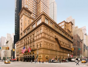 Carnegie Hall showing the entrance to the studio apartments on the right of the photo.
