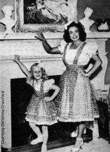 Joan Crawford and Christina Crawford