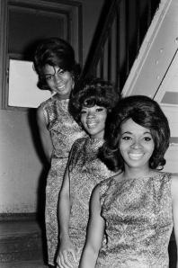 Martha and the Vandellas about to go onstage at the Appollo Theatre