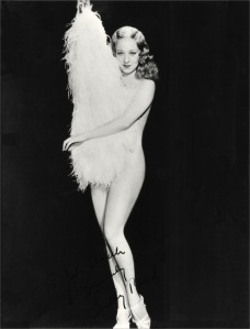 Sally Rand, in her heyday in the 1930s