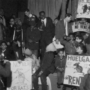 Striking Tenants in Harlem 1964