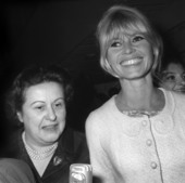 My godmother, Olga Horstig-Primuz and Brigitte Bardot