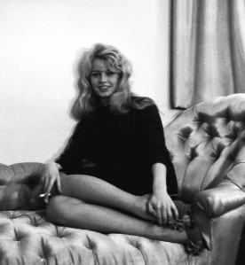 Brigitte Bardot back in the hotel room