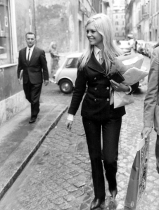 Brigitte Bardot in her trouser suit
