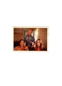 Caroline with Benjamin Mendoza and fellow prisoner in Muntinglupa prison