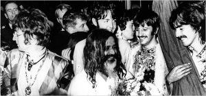 Maharishi Mahesh Yogi with the Beatles