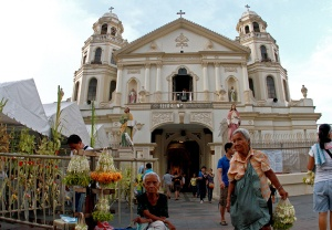 Quiapo Church in downtown Manila