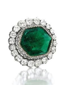 The famous Catherine the Great emerald in the collection of Imelda Marcos