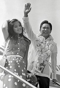 Imee and father, President Ferdinand Marcos