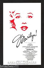 "Programme for musical, ""Marilyn!"""