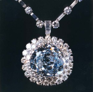 The famous blue diamond, The Idol's Eye, bought by Imelda Marcos