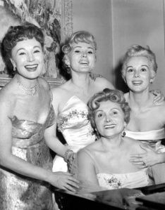 Mama Jolie Gabor with Magda, Zsa Zsa and Eve