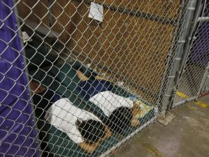 Prisoners sleeping on the floor