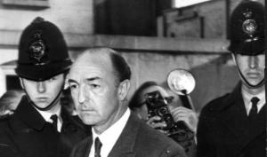 Minister for War, John Profumo, following his resignation.