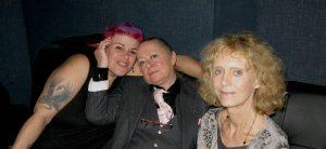Allison Carmichael (website designer) Janis Hetherington (producer) and Caroline Kennedy (founder)