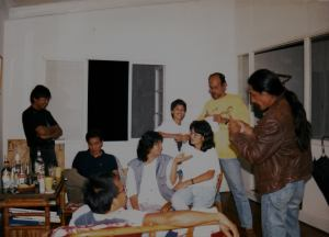 Gathering in 1986 with my ex, Ben Cabrera (in yellow) Baboo, Kidlat de Guia, Roberto and others.