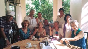 At a recent lunch party, hosted by Laida Lim. Caroline with friends, including Baboo