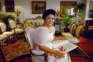 Imelda Marcos demonstrates her theory